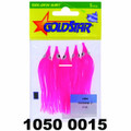 """Yamashita 1050-0015 Mini Squid, 2 - 1/2"""", Pink, 5/Pack - 1050-0015"""