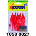 """Yamashita 1050-0027 Mini Squid - Hoochie, 2 1/4"""", #20, Flame, 5/Pack - 1050-0027"""
