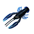 """YUM YCRB312 CrawBug Finesse Craw, 3 - 1/4"""", Black/Blue,8/Bag - YCRB312"""
