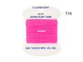 "Zak Z-716 Super Fluff Yarn, 180"" - Fluorescent Hot Pink - Z-716"