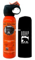 UDAP 12VHP Safety Orange Bear Spray - 2% CRC, 7.9oz 225gr w/Hip Holster - 12VHP