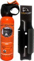 UDAP 12SO Safety Orange Bear Spray - w/Plastic Griz Guard Holster, 30 ft - 12SO