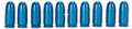 A-Zoom 15313 380 Auto Snap Cap - Blue, 10Pk - 15313