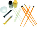 Flex Coat F2K Super Kit 2oz - w/Syringes Brushes Cups & Sticks - F2K