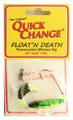Quick Change MW3 Float'n Death- - Fluorocarbon Minnow Rig - WING- - MW3