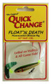 Quick Change MW4 Float'n Death- - Fluorocarbon Minnow Rig - WING- - MW4