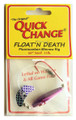 Quick Change MW6 Float'n Death- - Fluorocarbon Minnow Rig - WING- - MW6