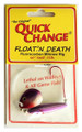 Quick Change MC6 Float'n Death- - Fluorocarbon Minnow Rig - Colo. Sz - MC6