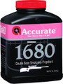 Accurate 1680 Double Base Smokeless - Powder For Rifles, 1Lb, State Laws - 1680