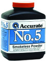 Accurate No 5 Double Base Smokeless - Powder For Handguns, 1Lb, State - NO 5