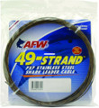 AFW K400C-0 49 Strand 7x7 Stainless - Steel Shark Leader Cable 400lb (182 - K400C-0