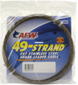 AFW K275C-0 49 Strand 7x7 Stainless - Steel Shark Leader Cable 275lb (125 - K275C-0
