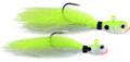 Spro SPFJCHG-1/8 Phat Flies Jig - 1/8 oz, 2/Pack, Chartreuse Ghost 2Pk - SPFJCHG-1/8