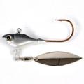 Fish Head 1101205 Spin Jighead, 1/4 - oz, 5/0 Hook, Smokin Shad - 1101205