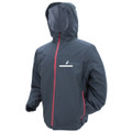 Frogg Toggs JT62139-77MD Java Toadz - 2.5 Jacket Grey/ Red Zip - JT62139-77MD