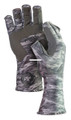 Fish Monkey FM11-GREYWTRCAM-XL Half - Finger Guide Glove, UPF+50 - FM11-GREYWTRCAM-XL