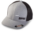 Rapala RFFC200 Flex Fit Cap - Heathered Grey/Black Mesh, Left Logo - RFFC200