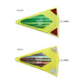Mack's Lure 71002 Scent Flash Tri - Flasher Chartreuse SLV/GRN SLV/RED - 71002