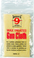 "Hoppes 1217 No. 9 Gun Cloth, Wax - Treated, 12X17"", Poly Bag - 1217"