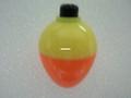 "Plastilite 50PB5PF Plasti-Bob 1 - 1/2"" Pear Shape,Yel/Org,50 per Bag - 50PB5PF"
