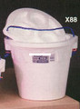Plastilite X80-24 Minnow Bucket , 5 - Quart, Foam, w/ Rope Handle - X80-24
