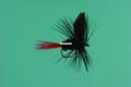 Jackson Cardinal 009-14 Dry Fly - #14, Black Gnat-Red Tail - 009-14