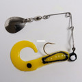 "Betts 025CT-22N Spin Curl Tail Lure - 4"", 1/4 oz, Yellow/Black Stripes - 025CT-22N"