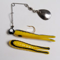 "Betts 021ST-22N Spin Split Tail - Lure, 1"", 1/32 oz, Yellow/Black - 021ST-22N"