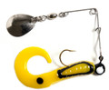 "Betts 023CT-22N Spin Curl Tail Lure - 3"", 1/8 oz, Yellow/Black Stripes - 023CT-22N"