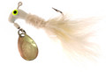 Road Runner 1003-001 Marabou Jig - w/Spinner, 1/8 oz, White/White - 1003-001