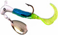 Road Runner 1602-136 Curly Tail Jig - w/Spinner, 1/16 oz, White/Blue - 1602-136