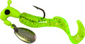 Road Runner 1602-062 Curly Tail Jig - w/Spinner, 1/16 oz, Chartreuse - 1602-062