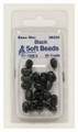 Beau-Mac SBG5B Soft Bead Oval sz 5 - (lrg) Black, 20 per card - SBG5B