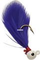 Double OO 61136 Flu-Flu Jig, 1/64 - oz, Sz 8 Hook, White/Purple - 61136