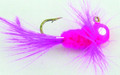 Lakco 124CR-FP Jig Fly, 1/24 oz - Fluorescent Pink - 124CR-FP