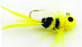 Lakco 124CR-BY Jig Fly, 1/24 oz - Black/Yellow - 124CR-BY