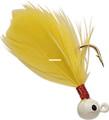 Double OO 61134 Flu-Flu Jig, 1/64 - oz, Sz 8 Hook, White/Yellow - 61134