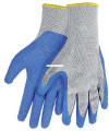 Calcutta CG1001 Men's Knit Gripper - Gloves Rubber Coated Palm Gry/Blu - CG1001