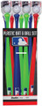 Franklin 64094 MLB Plastic Bat & - Ball 12 pc Floor Display - 64094