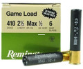 Remington GL4106 Game Load - Shotshell 410 GA, 2-1/2 in, No. 6 - GL4106