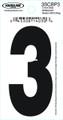 """Hardline 3SCBP-3 3"""" Blk Number 3 -  - 3SCBP-3"""