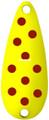 Worth 20760 Chippewa Spoon, 5/8 oz - Fluorescent Yellow/Red Spots - 20760