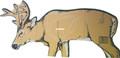 "Delta McKenzie 70371 Cardboard Deer - Target, 22"" x 47"", Marked Vitals - 70371"
