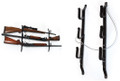 The Allen Company Inc. - 3-gun Locking Car Gun Rack Steel - 18520