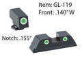 Ameriglo - Classic 3dot Night Sight For Glock 20 21 29 30 31 32 36 40 41 - GL119