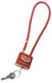 Birchwood Casey BC-04801 Cable Lock - Red 1Pk - BC-04801