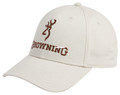 Browning 308722471 Cap Deluxe Taupe - With And B/M Logo Adj Snap Closure - 308722471