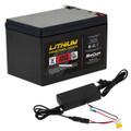 Marcum LP41218Kit 12v18amp LiFePO4 - Battery and 6amp Charger Kit - LP41218KIT