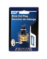 Camco 36153 Blow Out Plug with - Schrader Valve - Brass (Eng/Fr) - 36153