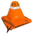 Kwik Tek AHBO-C2 Big Orange Cone - 4-Rider Towable - AHBO-C2